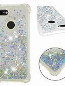 ราคาถูก เคสสำหรับ iPhone-Case สำหรับ Google Google Pixel 3 / Google Pixel 3 XL Shockproof / Flowing Liquid / Transparent ปกหลัง Glitter Shine Soft TPU