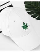 olcso Férfi kalapok, sapkák-Uniszex Egyszínű Pamut Poliészter,Vintage-Baseball sapka Fehér Fekete