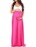 Χαμηλού Κόστους Φορέματα-Γυναικεία Βασικό Θήκη Φόρεμα - Συνδυασμός Χρωμάτων, Patchwork Μακρύ