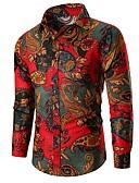 billige Skjorter-Skjorte Herre - Blomstret, Trykt mønster Grønn