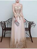 ราคาถูก Special Occasion Dresses-A-line อัญมณี ลากพื้น Tulle / เลื่อม แต่งตัว กับ ของประดับด้วยลูกปัด / เลื่อม / คริสตัล โดย LAN TING Express