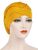 ราคาถูก หมวกสตรี-สำหรับผู้หญิง สีพื้น เส้นใยสังเคราะห์ พื้นฐาน สไตล์น่ารัก-หมวกปีกกว้าง ทุกฤดู ไวน์ สีกากี สีน้ำเงินกรมท่า