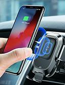 זול מחזיקים ומרכבים-הבסיס צ'י המכונית אלחוטית מטען אייר אוטומטי הרכבה בעל האייפון עבור iPhone 8 פלוס xr x xs מקסימום סמסונג גלקסיה s10 s10 + s10e s9 s8 s8 חכם חיישן אינפרא אדום מהיר טעינה אלחוטית