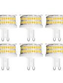 baratos Cintos Masculinos-YWXLIGHT® 6pcs 9 W Luminárias de LED  Duplo-Pin 900 lm G9 T 88 Contas LED SMD 2835 Regulável Branco Quente Branco Frio Branco Natural 200-240 V