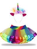povoljno Suknje za djevojčice-Djeca Dijete koje je tek prohodalo Djevojčice Aktivan Osnovni Unicorn Kolaž Čipka Pamuk Suknja Duga