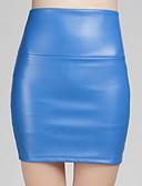 ราคาถูก ชุด-สำหรับผู้หญิง เข้ารูป กระโปรง - สีพื้น สีฟ้า อาร์มี่ กรีน เทาอ่อน M L XL / เพรียวบาง
