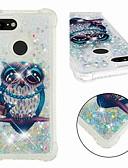ราคาถูก เคสสำหรับ iPhone-Case สำหรับ Google Google Pixel 3 / Google Pixel 3 XL Shockproof / Flowing Liquid / Transparent ปกหลัง นกฮูก / Glitter Shine Soft TPU