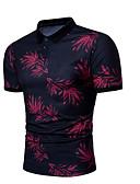 ราคาถูก เสื้อโปโลสำหรับผู้ชาย-สำหรับผู้ชาย Polo ลายพิมพ์ คอเสื้อเชิ้ต รูปเรขาคณิต สีน้ำเงิน