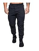 ราคาถูก กางเกงผู้ชาย-สำหรับผู้ชาย Street Chic กางเกง Chinos กางเกง - สีพื้น สีดำ เทาเข้ม สีเทา XL XXL XXXL