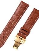 Χαμηλού Κόστους Δερμάτινο ρολόι-γνήσιο δέρμα / Δερμάτινο / Τρίχα Μοσχαριού Παρακολουθήστε Band Λουρί για Καφέ 20 εκατοστά / 7.9 ίντσες 1cm / 0.39 Ίντσες / 1.2cm / 0.47 Ίντσες / 1.3cm / 0.5 Ίντσες