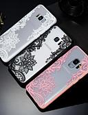 זול מגנים לטלפון-מגן עבור Samsung Galaxy S9 / S9 Plus / S8 מובלט / תבנית כיסוי אחורי הדפסת תחרה קשיח PC