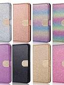 billige Samsung-tilbehør-Etui Til Huawei Huawei P30 / Huawei P30 Pro / Huawei P30 Lite Lommebok / Kortholder / med stativ Heldekkende etui Ensfarget / Glimtende Glitter / Strass Hard PU Leather