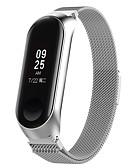 olcso Smartwatch sávok-Nézd Band mert Mi Band 3 Xiaomi Milánói hurok Rozsdamentes acél Csuklópánt