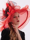 ราคาถูก หมวกสตรี-สำหรับผู้หญิง ลายดอกไม้ ชิฟฟอน ลูกไม้ ปาร์ตี้ สไตล์น่ารัก-หมวกปีกกว้าง ดวงอาทิตย์หมวก ทุกฤดู สีเหลือง สีบานเย็น สีน้ำเงินกรมท่า