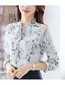 billige Skjorter til damer-Tynn Bluse Dame - Grafisk Svart