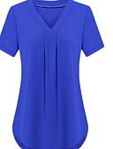 povoljno Ženske kaputi od kože i umjetne kože-Veći konfekcijski brojevi Majica Žene Jednobojni Slim Crn