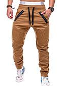 billige Jumpsuits og buksedresser til herrer-Herre Aktiv / Grunnleggende Chinos Bukser - Ensfarget Grå Militærgrønn Kakifarget XL XXL XXXL