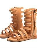 ราคาถูก ชุดเด็กผู้หญิง-เด็กผู้หญิง ความสะดวกสบาย PU รองเท้าแตะ เด็กวัยหัดเดิน (9m-4ys) / เด็กน้อย (4-7ys) สีดำ / สีน้ำตาล ฤดูร้อน