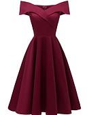 Χαμηλού Κόστους Casual Φορέματα-Γυναικεία Λεπτό Γραμμή Α Φόρεμα Ως το Γόνατο