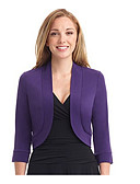 ราคาถูก เสื้อแจ็กเก็ตสำหรับผู้หญิง-สำหรับผู้หญิง ขนาดพิเศษ เสื้อคลุมสุภาพ, สีพื้น ปกคอแบะของเสื้อแบบผ้าคลุม เส้นใยสังเคราะห์ สีม่วง / สีเหลือง / สีน้ำเงินกรมท่า