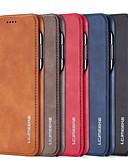 billige iPhone-etuier-Etui Til Apple iPhone 11 / iPhone 11 Pro / iPhone 11 Pro Max Kortholder / Flip Fuldt etui Ensfarvet / Ord / sætning PU Læder / PC