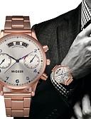 ราคาถูก นาฬิกาข้อมือสแตนเลส-สำหรับผู้ชาย นาฬิกาตกแต่งข้อมือ นาฬิกาอิเล็กทรอนิกส์ (Quartz) สแตนเลส Rose Gold โครโนกราฟ Creative ดีไซน์มาใหม่ ระบบอนาล็อก คลาสสิก ไม่เป็นทางการ - Rose Gold หนึ่งปี อายุการใช้งานแบตเตอรี่