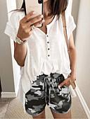 ราคาถูก กางเกงขาสั้น-สำหรับผู้หญิง พื้นฐาน ขนาดพิเศษ เพรียวบาง กางเกงขาสั้น กางเกง - รูปแบบ เอวต่ำ สีเทา สีม่วง อาร์มี่ กรีน XXXL XXXXL XXXXXL