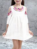 Χαμηλού Κόστους Φορέματα για κορίτσια-Παιδιά Κοριτσίστικα Φλοράλ Φόρεμα Λευκό