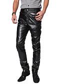 povoljno Zentai odijela-Zentai odijela Odijelo za kožu Muškarci za motocikle Odrasli Lateks Cosplay Nošnje Trousers Muškarci Crn Jednobojni Halloween Karneval Maškare