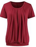 povoljno Majice-Majčinski Majica s rukavima Žene Jednobojni Djetelina