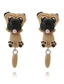 billige iPad-etui-Dame Øredobb Øredobber stylet på for- og baksiden Hunder Dyr søt stil Til barn øredobber Smykker Lysebrun Til Daglig Stevnemøte 1 par