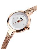 ราคาถูก นาฬิกาดิจิทัล-SKMEI สำหรับผู้หญิง นาฬิกาควอตส์ นาฬิกาอิเล็กทรอนิกส์ (Quartz) สแตนเลส เงิน / ทอง / Rose Gold 30 m กันน้ำ นาฬิกาใส่ลำลอง ระบบอนาล็อก ไม่เป็นทางการ สง่างาม - สีทอง สีเงิน ทองกุหลาบ