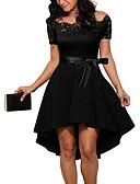olcso Női ruhák-Női Vékony A-vonalú Ruha Egyszínű Aszimmetrikus Aszimmetrikus Dusty Rose
