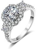 billige Digitale klokker-Dame Forlovelsesring Micro Pave Ring Kubisk Zirkonium 1pc Sølv Kobber Stilfull Fest Engasjement Smykker