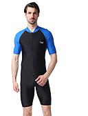 ราคาถูก ชุดดำน้ำ-YOBEL สำหรับผู้ชาย ดำน้ำที่เหมาะกับสภาพผิว ชุดดำน้ำ แห้งเร็ว แขนสั้น การว่ายน้ำ กีฬาทางน้ำ ลายต่อ ตัวอักษรและจำนวน ฤดูร้อน / ความยืดหยุ่นสูง