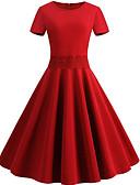 povoljno Vintage kraljica-ženski midi swing haljina crvena s m l xl