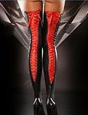baratos Meias & Meias Calças-Mulheres Super Sexy Meião - Sólido Fina Preto Vermelho Roxo Tamanho Único