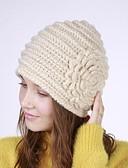povoljno Ženski šeširi-Žene Jednobojni Cvjetni print Aktivan Osnovni Slatka Style Akril-Šešir širokog oboda Jesen Zima žuta Bež Bijela