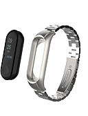 baratos Bandas de Smartwatch-Pulseiras de Relógio para Mi Band 3 Xiaomi Pulseira Esportiva Aço Inoxidável Tira de Pulso