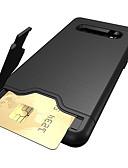 זול מגנים לטלפון-מגן עבור Samsung Galaxy S9 / S9 Plus / S8 Plus מחזיק כרטיסים / עם מעמד כיסוי אחורי אחיד קשיח TPU