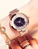 povoljno Kvarcni satovi-Žene Ručni satovi s mehanizmom za navijanje Zlatni sat Kvarc Nehrđajući čelik Rose Gold Vodootpornost Casual sat Analog Ležerne prilike Moda - Crvena Crvena Pink