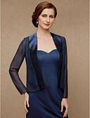 ราคาถูก ผ้าคลุมสำหรับชุดแต่งงาน-แขนยาว ชิฟฟอน / ซาติน งานแต่งงาน / งานปาร์ตี้ / งานราตรี Women's Wrap กับ Splicing โค้ท / แจ๊คเก็ต