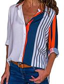 povoljno Majica-Veći konfekcijski brojevi Majica Žene Prugasti uzorak Kragna košulje Obala