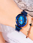 ราคาถูก เสื้อโปโลสำหรับผู้ชาย-สำหรับผู้หญิง นาฬิกาสร้อยข้อมือ นาฬิกาอิเล็กทรอนิกส์ (Quartz) สแตนเลส ดำ / ฟ้า / ม่วง กันน้ำ ระบบอนาล็อก แฟชั่น สง่างาม - สีดำ สีม่วง ทองกุหลาบ