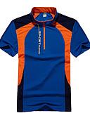 ราคาถูก ถุงเท้าและชุดชั้นใน-สำหรับผู้ชาย Hiking T-shirt แขนสั้น กลางแจ้ง ระบายอากาศ Fast Dry เสื้อยึด Tops ฤดูใบไม้ผลิ ฤดูร้อน Terylene Polyester Taffeta ปกตั้ง น้ำเงินเข้ม สีเขียว ฟ้า ชุดลำลอง เทนนิส แคมป์ปิ้ง / ผสมยางยืดไมโคร