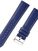 Χαμηλού Κόστους Δερμάτινο ρολόι-γνήσιο δέρμα / Δερμάτινο / Τρίχα Μοσχαριού Παρακολουθήστε Band Λουρί για Μπλε 17 εκατοστά / 6.69 ίντσες / 18 εκατοστά / 7 ίντσες / 19 εκατοστά / 7,48 ίντσες 1cm / 0.39 Ίντσες / 1.2cm / 0.47