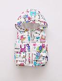 povoljno Vanjska odjeća za bebe-Dijete Djevojčice Osnovni Print Normalne dužine Pernata i pamučna podstava Navy Plava / Dijete koje je tek prohodalo