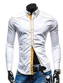olcso Női ruhák-Vékony Férfi Ing - Egyszínű Fehér