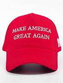 ราคาถูก หมวกสุภาพบุรุษ-ทุกเพศ รูปเรขาคณิต เส้นใยสังเคราะห์ พื้นฐาน-หมวกเบสบอล ทับทิม