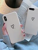 זול מגנים לאייפון-מגן עבור Apple iPhone XS / iPhone XR / iPhone XS Max מזוגג / תבנית כיסוי אחורי לב קשיח PC